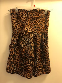 brown and black leopard print sleeveless dress Silver Spring, 20910