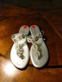 pair of white leather sandals Owings Mills, 21117