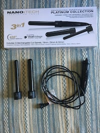 Curling wand with 19mm and 25mm barrel.  Victoria, V8T