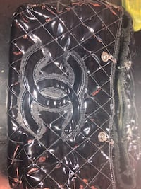 quilted black leather Chanel bag