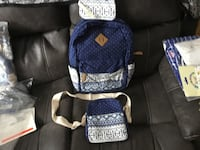 Women's canvas backpack. Waterproof with purse and wallet. Cambridge, N3C 3B9