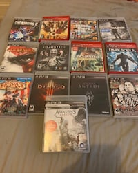 Assorted ps3 game case lot Washington, 20011
