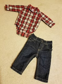 Like new infant boy 3 month top and Jean set