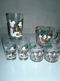 Chrisrmas Mickey Mouse Juice Glasses and Cups  Keymar, 21757