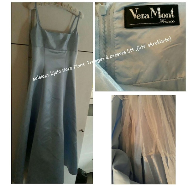 Vera In Sateng Mont Used Stropp Gray Hof Sale Kjole Spaghetti For q5TzPOxw