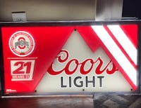 Bar Sign - Coors Light/Ohio State  Westerville, 43081