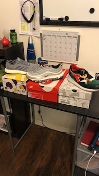 All size 8, never used. silver bullets 250, sauconys 230, boost 85