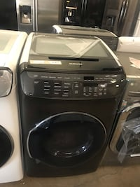 Samsung 7.5 Total cu. ft. Electric FlexDry Dryer with Steam in Black Stainless Farmers Branch, 75234