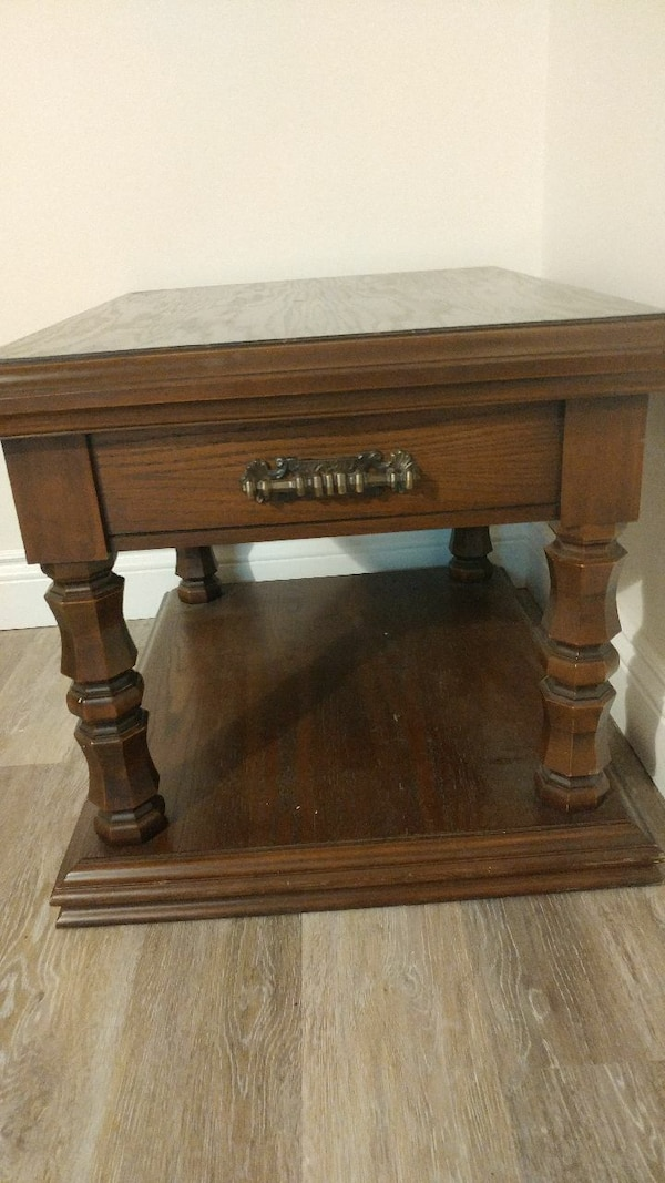 brown wooden end table
