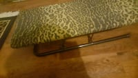 brown and black leopard print leather ironing boar 1273 mi