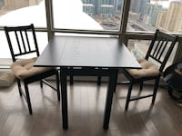 IKEA Square black-brown wooden dining table Toronto, M5V