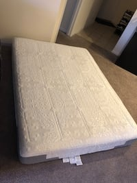 """10"""" Memory Foam Queen mattress with Box and heavy duty frame Davie, 33314"""
