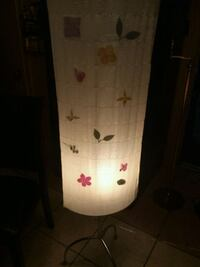 Floral fabric floor lamp Silver metal 66 inches ta Missouri City, 77489