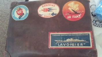 Antique Airline and Cruise Ship Decals on small su