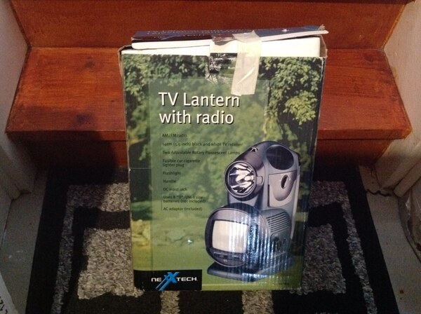 TV Lantern with Radio