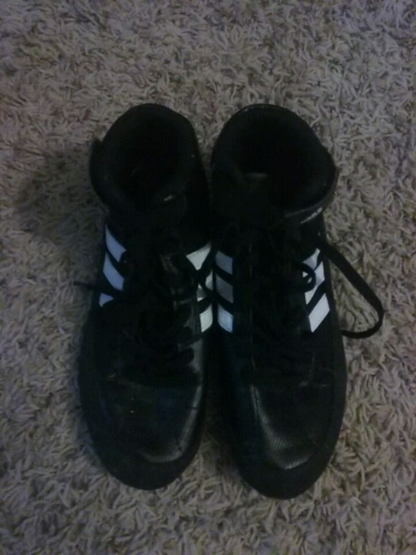Black Adidas wrestling shoes