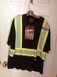 MENS BRAND NEW WITH TAGS HIGH VIS SAFTEY SHIRT SIZE XLARGE Clearview, L0M
