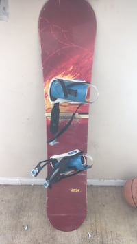 blue and red snowboard with bindings Woodbridge, 22192