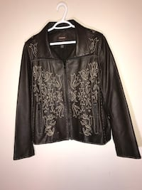 New Danier Embroidered Leather Moto Jacket (Size 2XL) Milton, L9T 4K1