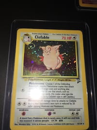 Clefable Holo Foil w/Swirl Base Set 2 Pokemon Card