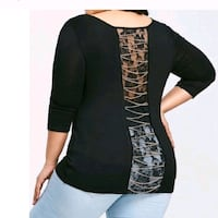Plus Size Lace Panel Top  Baltimore, 21215