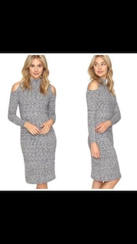 New Kenzie cold shoulder sweater dress size: L Cary