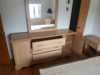brown wooden TV hutch with cabinet Montréal, H1W 1B1