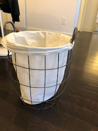 Wire and canvas laundry basket  Edmonton, T5N 1M6