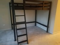 Loft Full-Size Loft Bed with Built-In Ladder (Blk) Chicago, 60601