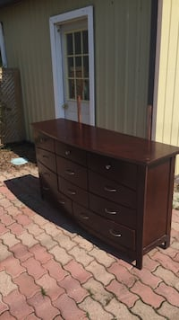 Brown wooden dresser with mirror Wasaga Beach