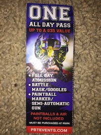 All Day Paint Ball Ticket Kent, 98031