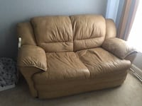 Real Leather Loveseat SANFORD