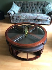 4 chair coffee table