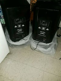 two black subwoofers