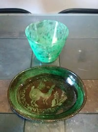 green glass dishes Winston-Salem, 27105