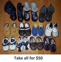 Sizes 5 Baby Boy Toddler Shoes & Boots Lot - 11 Pairs for $50  Mississauga