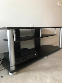 black wooden TV stand with mount VANCOUVER