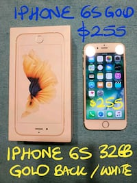 TRADEorFirm$255 IPHONE 6 S GOLD 32GB +Box+Charger  Pointe-Claire, H9R 2Y7