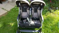 baby's black and gray twin stroller Toronto, M1E 4G1