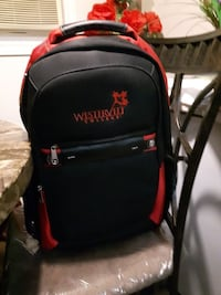 NEW Black and Red Backpack. Never used