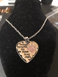 Women's sterling silver filled expression doggie necklace ,no longer by my side forever in my heart   Hasbrouck Heights, 07604