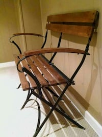 Beautiful folding hard wood and iron bench Fort Erie, L2A 5B6