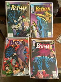 Batman Knightfall comics issues 1-5,9