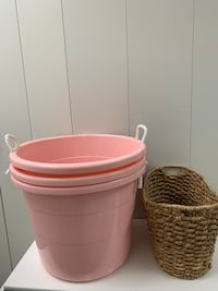 Basket and tubs home storage organizing Items for organizing Bundle of 4 items for your home.