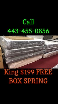 Mattress free box spring SAME DAY DELIVERY AVAILABLE CALL US  Baltimore, 21224