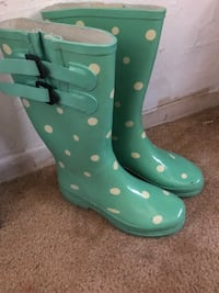 pair of teal rain boots Los Angeles, 90065