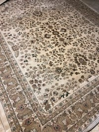 brown and white floral area rug Herndon, 20171