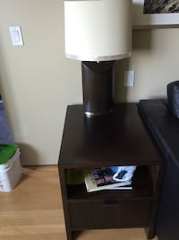 Two solid wood side tables - room and board 2391 mi