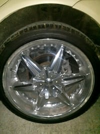 "20"" chrome universal rims and tires Summerville, 29483"
