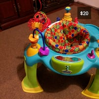 baby's blue and green activity saucer Troy